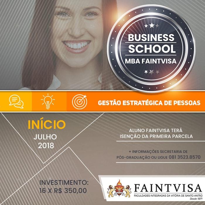 PÓS-GRADUAÇÃO FAINTVISA OFERTA OS SEUS PRIMEIROS CURSOS DE MBA